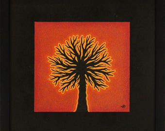 Painting: abstract tree.