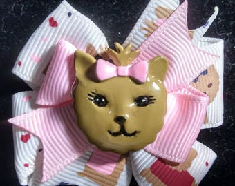 Yorkie puppies hairbow, pink