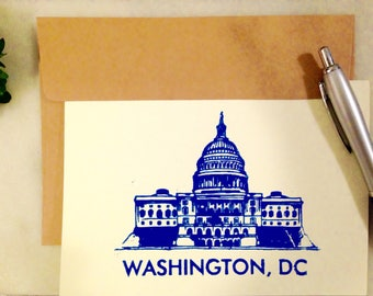 Washington DC/District of Columbia/Capitol/ note cards and envelopes/set of 4