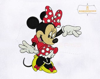 Lovely And Cute Minnie Mouse Embroidery Design | 4x4 Hoop Embroidery Design