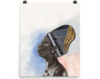 Nina Simone Mixed Media Print
