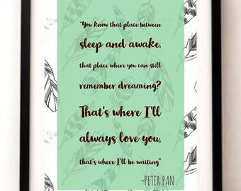Beautiful Peter Pan print