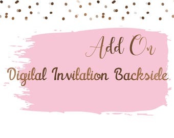 ADD ON Digital Invitation Backside