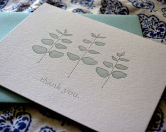 Eucalyptus Thank You Note