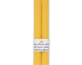 Pure beeswax pillar candles SMOKELESS, DRIPLESS, 16.5 by 1.FREE Shipping