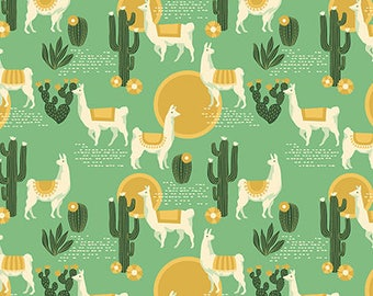 Lingering Llamas Taos from Florabelle collection 112cm wide x 25cm
