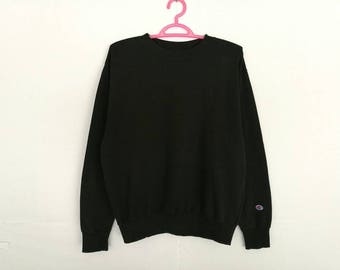 Rare!! Champion Small Logo Embroidery Pullover Jumper Sweatshirt