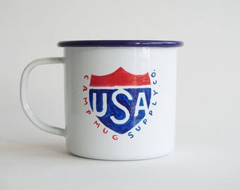 U.S.A. Roadtrip Enamel Mug