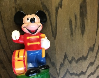 Mickey Mouse plastic coin bank