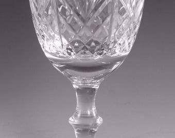 "EDINBURGH Crystal - IONA Cut - Water Goblet Glass / Glasses - 6 3/8"" (2nd)"