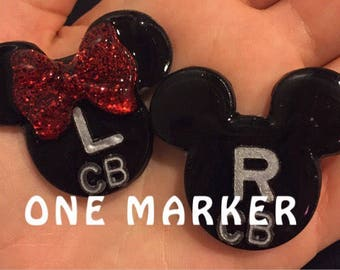 ONE MARKER: Mr.Mouse & Mrs.Mouse Lead Markers/X-Ray Markers
