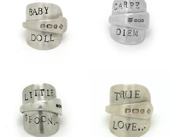 Silver Spoon Rings