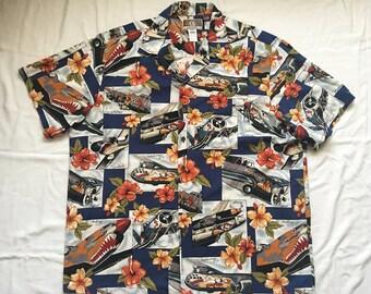 WWII Fighter aircraft hawaiian shirt-Fighter-bomber
