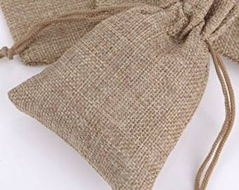 20% OFF  50 x Burlap Favor Bag, Natural Favour Bag, Hessian Favor Bag, Rustic Wedding, Christening Gift, Hessian Bag, Wedding Favours