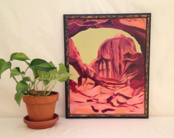Double Arch Original Oil Painting