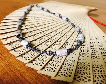 Paper Bead Woods Necklace