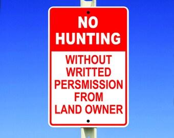 Hunting Aluminum Sign