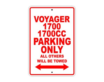 KAWASAKI VOYAGER 1700 1700CC Parking Only Motorcycle Bike Chopper Aluminum Sign