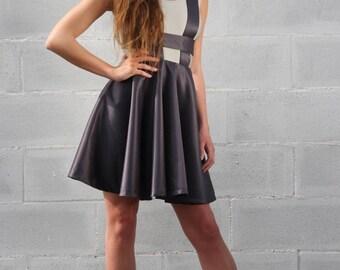 Full skirt with suspenders