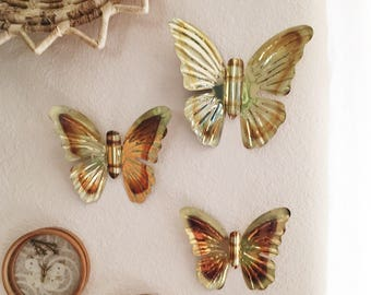 Vintage Gold Metal Butterflies : Boho Wall Decor Awesome Ideas