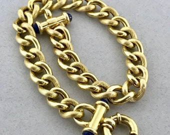Gorgeous Solid 14k Yellow Gold Cuban Curb Link Chain Bracelet! 8.25 Inches!