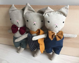 Funny cat stuffed animal toy baby and child