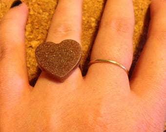 Handmade Heart Ring -  Gold