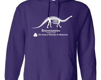 Stranger Things Brontosaurus Thunder Lizard Purple Hoodie - Dustin Screen Printed