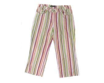 Vintage Female Fashion women pants striped colorful