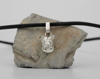 Vakkancs English Bulldog pendant (solid sterling silver)