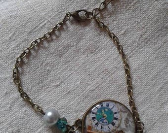 "bracelet ""cabochon pendulum and key"""
