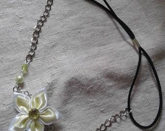 """headband """"print and lime flower and white"""""""