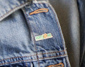 Vintage San Jose Enamel Pin / San Jose Vintage 90s Enamel Pin / Vintage Enamel Pin / Jacket Pin / San Jose California / Vintage 90s Pin