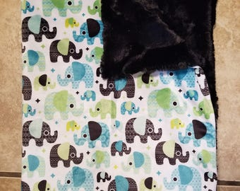 Elephant blanket-elephant nursery-elephant gifts-baby shower gift-