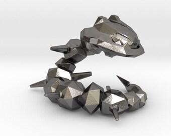 Polished Nickel Steel Steelix   Pokemon   Stainless Steel