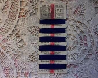 "card of old Silk mark ""tailor"" real silk"