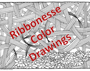 Ribbonesse Color Drawings - Set of 10