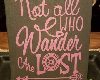 Not all who wander are lost // travel canvas // travel gift // adventure  canvas // explore canvas // gifts for him // adventure gift //