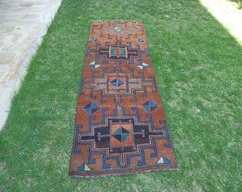 Authentic Runner, Tribal Runner, Anatolian Runner, Wool Runner, Turkish Runner Rug, Vintage Runner Rug, Soft Runner Rug