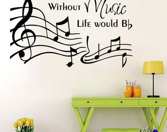 Wall Decal - Music Life (Musical Notes)
