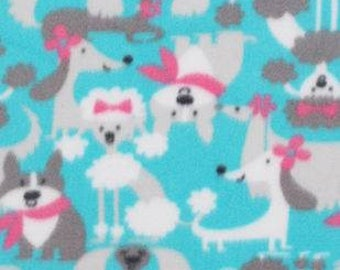 Dogs With Bows And Scarfs Fleece Tied Blanket