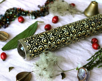 Teleidoscope. Fractal and Mandala explorer. Kaleidoscope. Luxury. Psycodelic art. Personalized gift.  Pattern. Handmade. St. Patrick's gift