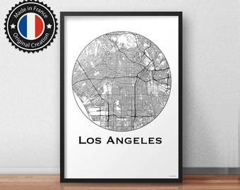 Poster Los Angeles USA Minimalist Map - City Map, Street Map