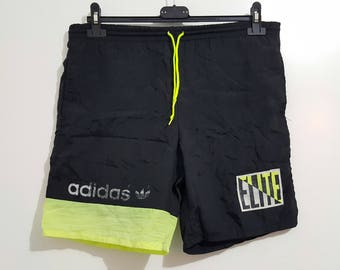 "Shorts Adidas ""Elite"" Vintage 90's, Made in Hong Kong size 28 (M/L)"