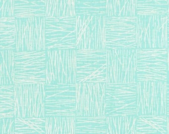 light turquoise patchwork fabric by Kanvas Tea's Me Revedepatch patchwork