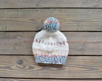Chunky Knit Beanie, Knit Beanie, Winter Hat for Women, Pom Pom Hat, Chunky Pom Pom Beanie, Pom Pom Beanie, Knit Pom Pom Beanie, Knit Toque