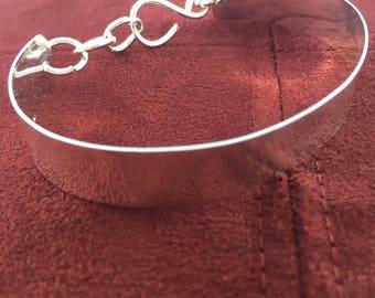 Handmade Copper Bracelet Platted in Silver
