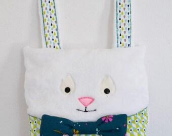 """Eat pyjama"" white rabbit plush"
