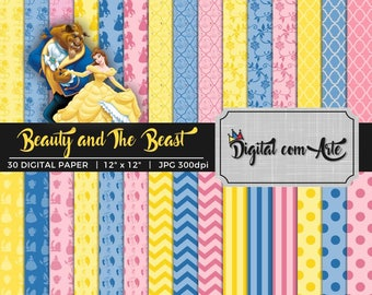 Beauty and the Beast Digital Paper