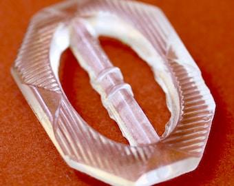 Transparent Glass Slide Buckle